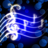 Burning musical symbols Royalty Free Stock Photos