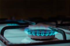 Burning natural gas, Kitchen Heater Royalty Free Stock Image