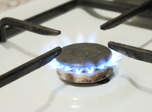 Burning natural gas on a plate Stock Photography