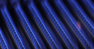 Burning of natural gas in water heater furnace 4K stock video