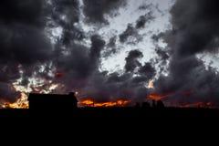 The Burning Night Sky Royalty Free Stock Image
