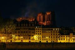 Free Burning Notre Dam De Paris Royalty Free Stock Photos - 144971098