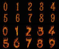 Burning numbers Stock Image