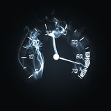 Burning odometer. Illustration of the odometer in the smoke Royalty Free Stock Photo