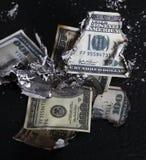 Burning Of Money Royalty Free Stock Image