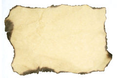 Burning off the Old paper background. Burning-off of an old paper background royalty free stock photos