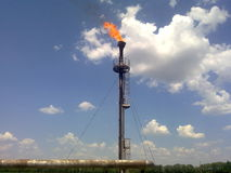 The burning oil torch Royalty Free Stock Photos