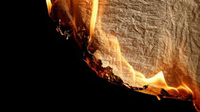 Burning old paper. Royalty Free Stock Image