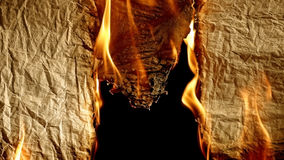 Burning old paper. royalty free stock photography