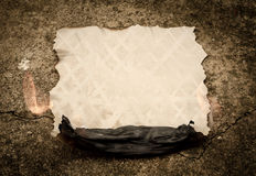 Burning old paper sheet Stock Images