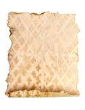 Burning old paper sheet isolated on white Royalty Free Stock Image