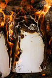 Burning old paper, vintage paper Stock Photography