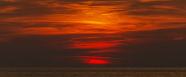 Burning orange sky Royalty Free Stock Photography