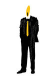 Burning out business man. Symbol of business man dressed in costume and a tie burning out like a candle Stock Illustration