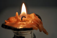 Burning out Candle Stock Photo