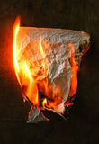 Burning paper Stock Photos