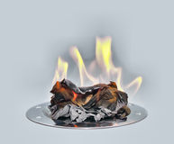 Burning paper Royalty Free Stock Image