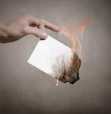 Burning paper Stock Photo