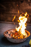 Burning paper for ancestors passed away Royalty Free Stock Images