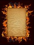 burning papper Arkivbild