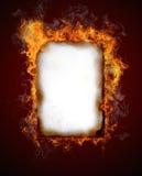 burning papper Royaltyfria Bilder