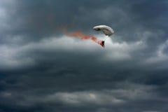 Burning parachute Stock Images