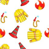 Burning pattern, cartoon style Stock Photos