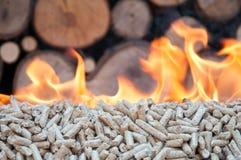 Burning Pellets Stock Photo
