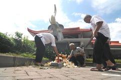 burning pengarpapper Royaltyfri Fotografi