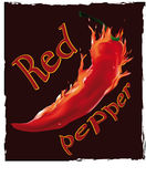 Burning pepper. Burning  red pepper on a dark background Stock Photo
