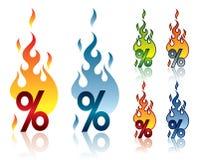 Burning percent Stock Photography