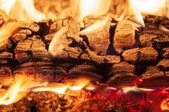 Burning piece of wood Royalty Free Stock Photo