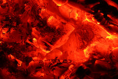 Burning pieces of coal fire  background Stock Image