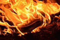 Burning plástico Imagens de Stock Royalty Free