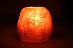 burning placerad stearinljusljusstake Arkivbild