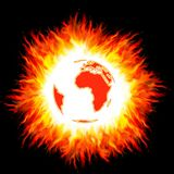Burning planet Royalty Free Stock Photos