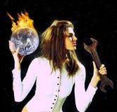 Burning planet Royalty Free Stock Photo