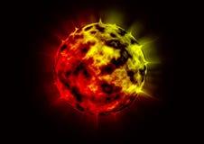 Burning planet Royalty Free Stock Image