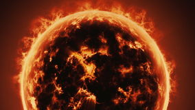 Burning planet stock video footage