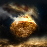 The Burning Planet Royalty Free Stock Photo