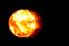 Burning planet (Hot serie) Stock Photography