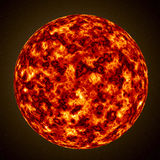 Burning Planet, Sun Royalty Free Stock Photos