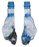 Burning plastic bottle Royalty Free Stock Image
