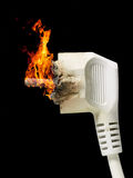 Burning plug Royalty Free Stock Photo