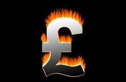Burning pound. Symbol stock illustration