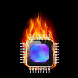 Burning Processor Stock Images