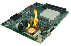 Burning Processor Stock Photography