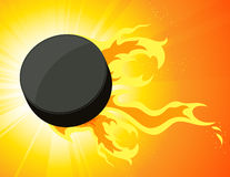 Burning puck Royalty Free Stock Photos