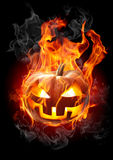 Burning pumpkin. On black background Royalty Free Stock Photography
