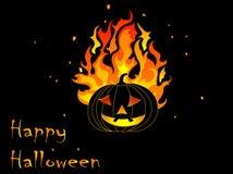 Burning pumpkin Royalty Free Stock Photography